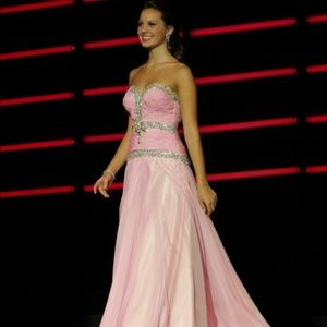 Tony Bowls pink pageant gown